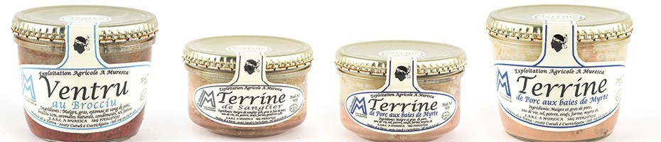 Terrines corses produit corse traditionneL